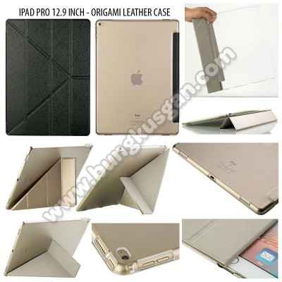 * iPad Pro 12.9 Inch - Origami Stand Leather Case }