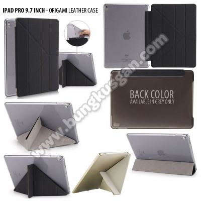 * iPad Pro 9.7 Inch - Origami Stand Leather Case }