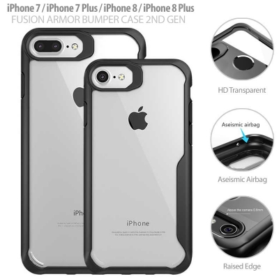 ^ iPhone 7 / iPhone 8 - Fusion Armor Bumper Case 2nd Gen