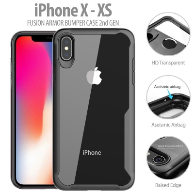 ^ iPhone X / XS - Fusion Armor Bumper Case 2nd Gen