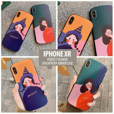 ^ iPhone XR - Perfect Fashion Shockproof Armor Case