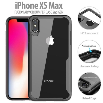 ^ iPhone XS Max - Fusion Armor Bumper Case 2nd Gen