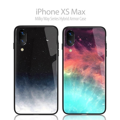 ^ iPhone XS Max - Milky Way Series Hybrid Armor Case