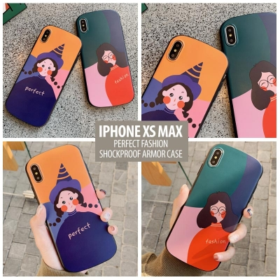 ^ iPhone XS Max - Perfect Fashion Shockproof Armor Case