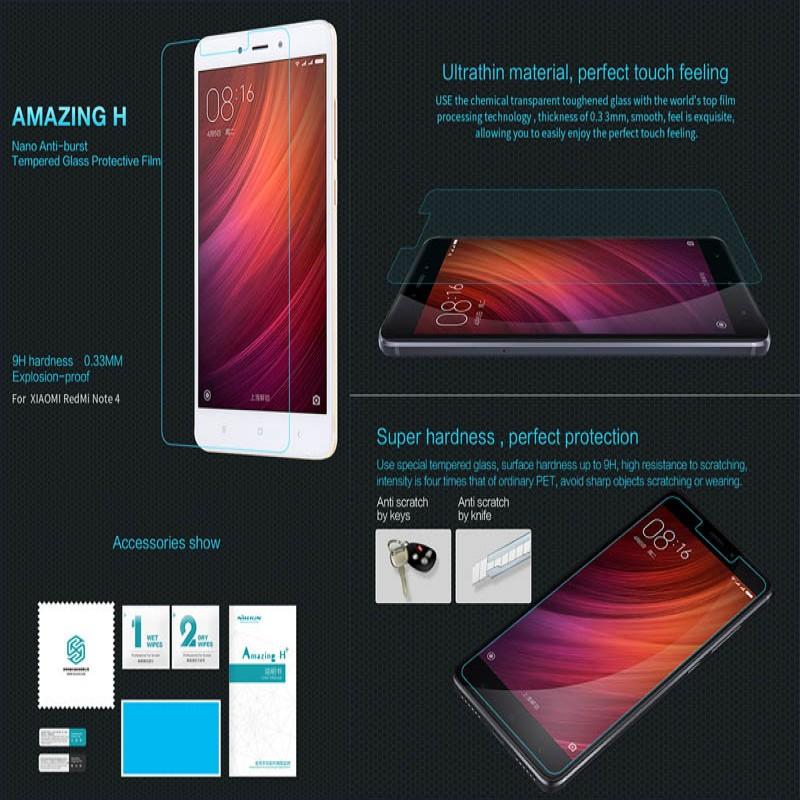 Xiaomi RedMi Note 4 - Nillkin Anti-Explosion H Tempered Glass Screen Protector