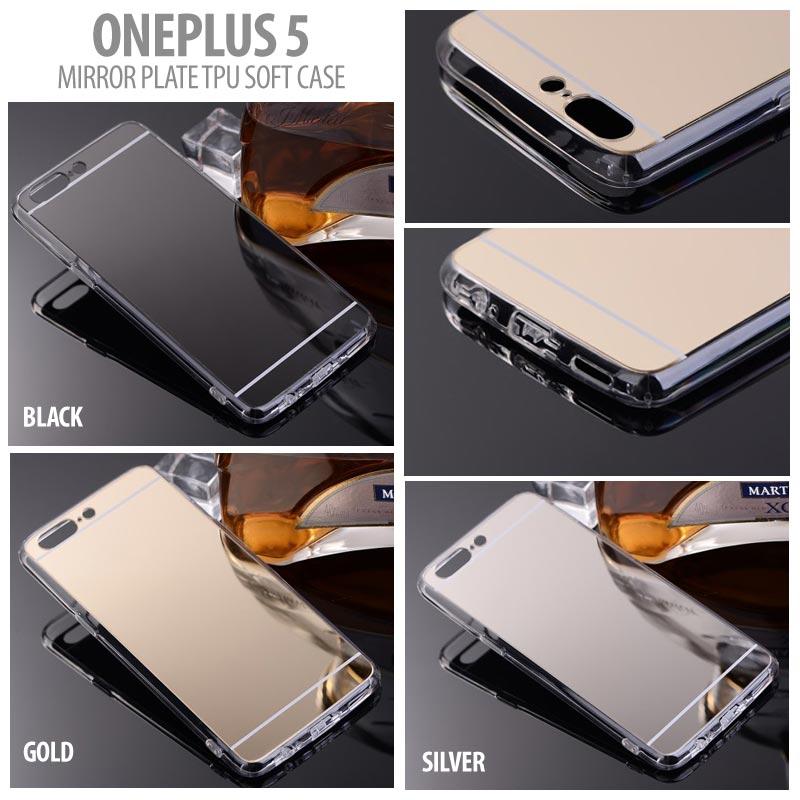 quality design 85c51 7c190 Oneplus 5 Mirror Plated TPU Soft Case