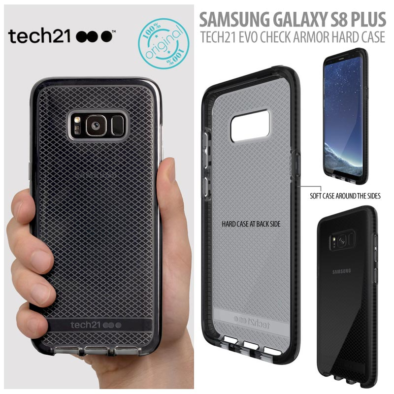 meet 0876a 657f8 Samsung Galaxy S8 plus Original Tech21 Evo Check Armor Hard Case