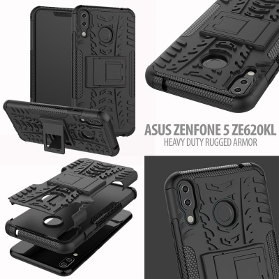 Asus Zenfone 5 ZE620KL - Heavy Duty Rugged Armor Stand Case }