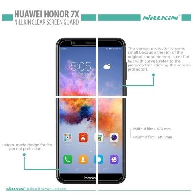 Huawei Honor 7X - Nillkin Clear Screen Guard }