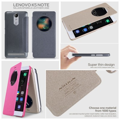 Lenovo K5 Note - Nillkin Sparkle Leather Case